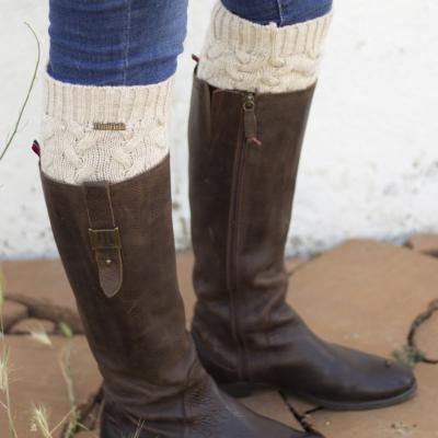 calentadores calcetines huntfield beige caza señora