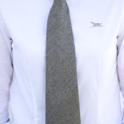 corbata lana hombre mujer señora verde caza huntfield