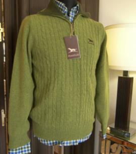Huntfield | JERSEY LANA CREMALLERA    + COLORES (Verde, M)