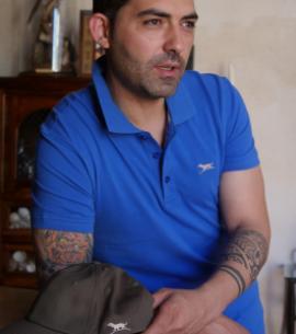 POLO HOMBRE AZUL CAZA HUNTFIELD