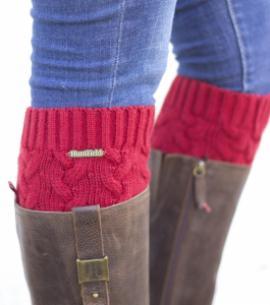 calentadores calcetines huntfield rojo coral caza señora