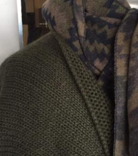 poncho verde CAZA de señora