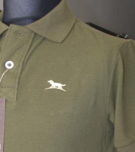 sueter camisa polo pique verde caza