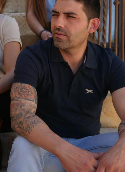 POLO HOMBRE MARINO CAZA HUNTFIELD