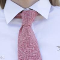 corbata lana hombre mujer señora rojo caza huntfield