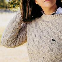 jersey punto de mujer aranes beige caza